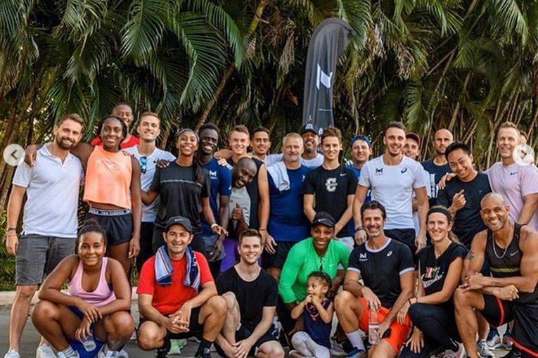 Nicholas Davis Ionel, alături de Serena Williams, Coco Gauff și ceilalți participanți la cantonamentul Academiei Patrick Mouratoglou, din decembrie 2019