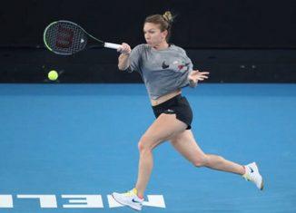 Simona Halep la antrenament la Australian Open 2020