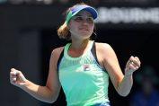 Sofia Kenin este bucuroasă după calificarea în semifinale la Australian Open 2020