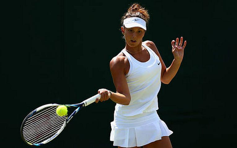 Jaqueline Cristian în acțiune la Wimbledon 2015