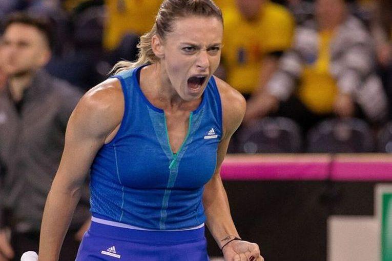 Ana Bogdan, bucuroasă după ce a adus punctul României contra Rusiei în Fed Cup