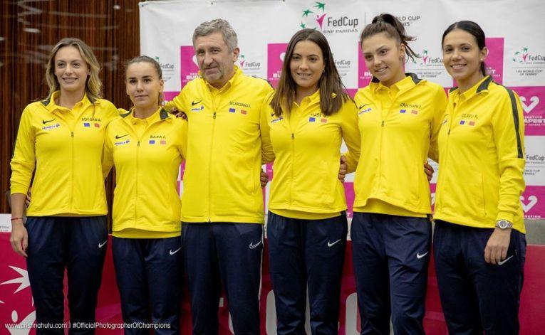 Echipa de Fed Cup a României pentru meciul cu Rusia