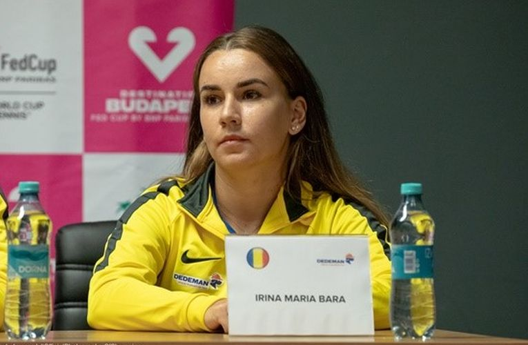 Irina Bara la conferința de presă a echipei de Fed Cup a României înaintea meciului cu Rusia