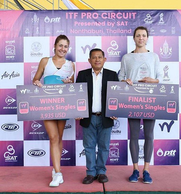 Irina Fetecău și Patricia Țig, alături de directorul de turneu de la Nonthaburi