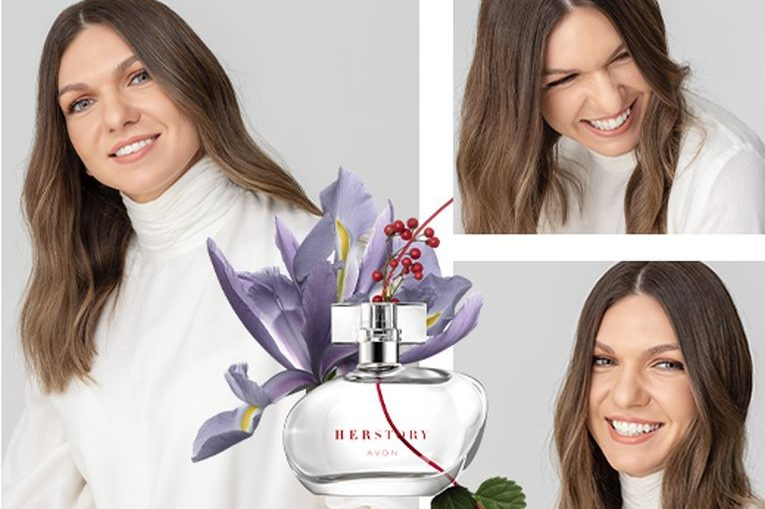 """Simona Halep, în fotografia de prezentare a noului ei parfum, """"Her Story"""""""