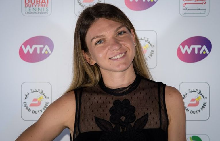 Simona Halep la players party Dubai 2020