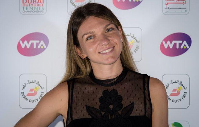 Simona Halep la players party Dubai 2020