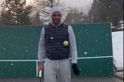 Roger Federer a început antrenamentele pe ninsoare