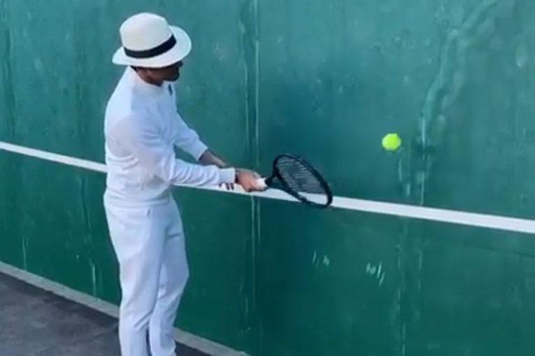 Roger Federer la antrenament