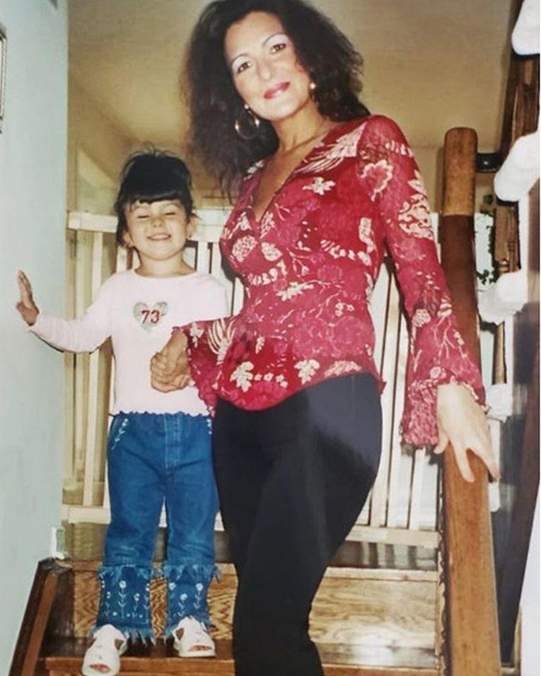 Bianca Andreescu, alături de mama ei, în copilărie