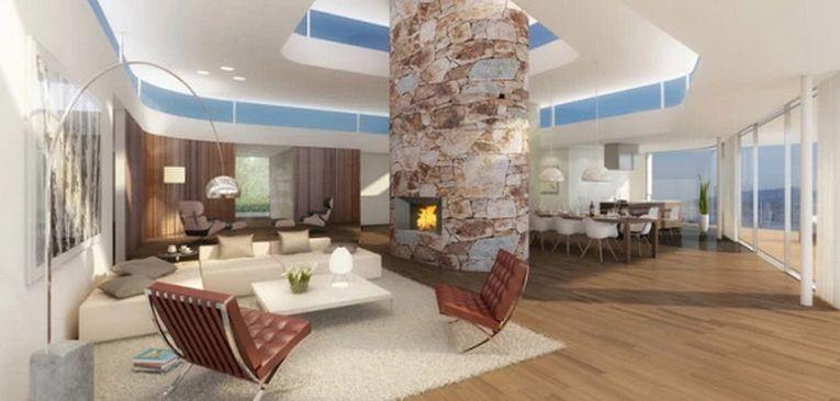 La fiecare etaj există câte un hol asemăntor, al cărui spațiu este folosit pentru socializare de cei care locuiesc acolo
