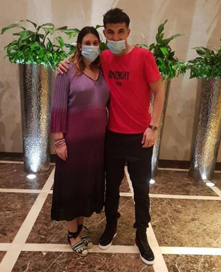 Marion Bartoli, alături de soțul ei, Yahya Boumediene