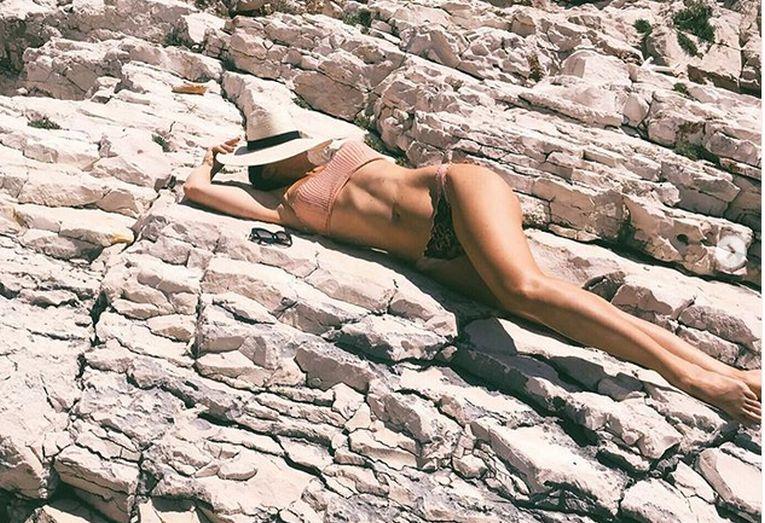 Jelena Jankovic la plajă