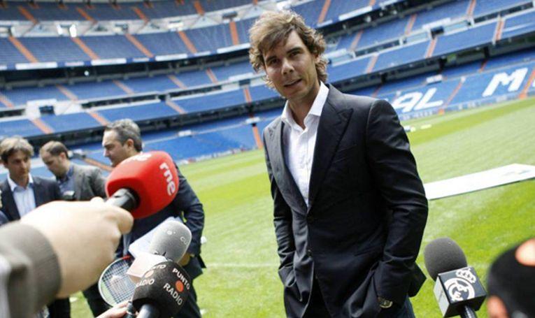 Rafael Nadal, pe stadionul echipei Real Madrid