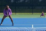 Serena Williams, primul dublu alături de fetița ei, Alexis Olympia