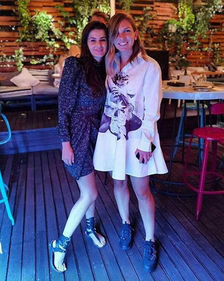Simona Halep, alături de Irina Antonie