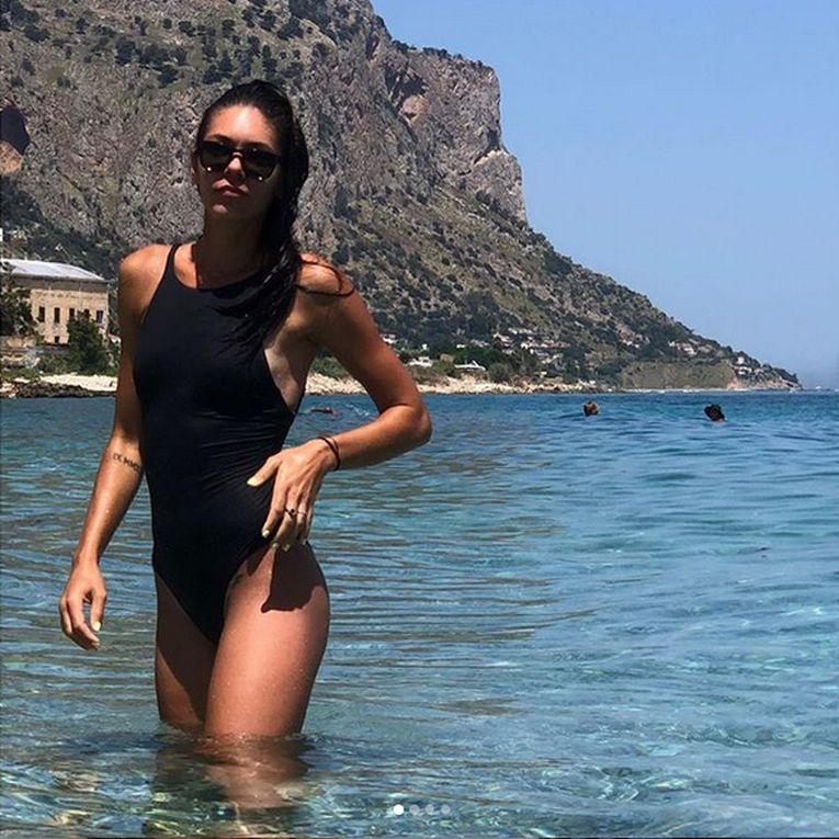 Andreea Mitu s-a bucurat de mare și soare la Palermo