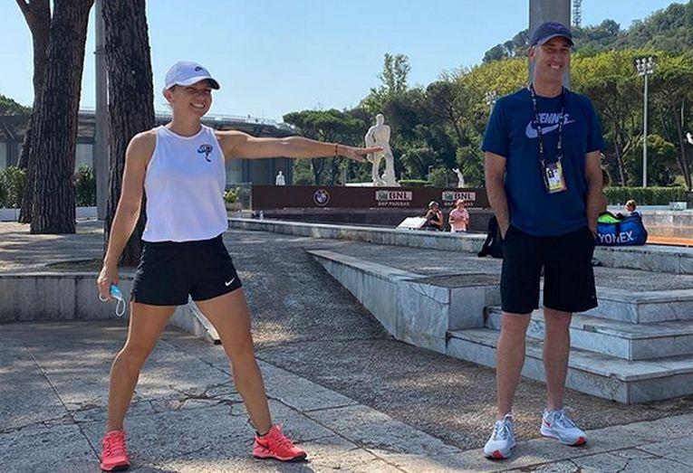 Simona Halep s-a revăzut cu Darren Cahill după 7 luni, la Roma