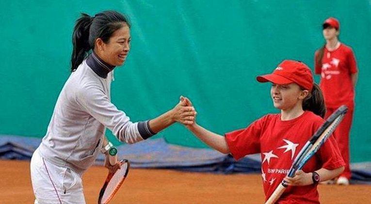 Iga Swiatek a jucat la dublu cu Hsieh când avea doar 9 ani