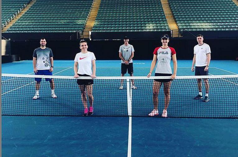 Irina Begu si Simona Halep s-au antrenat împreună la Adelaide