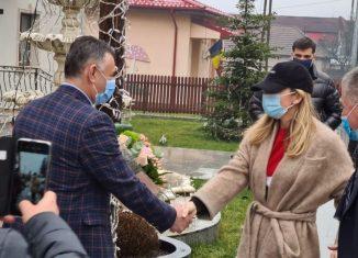 Simona Halep a fost primită de primarul din Valea Doftanei