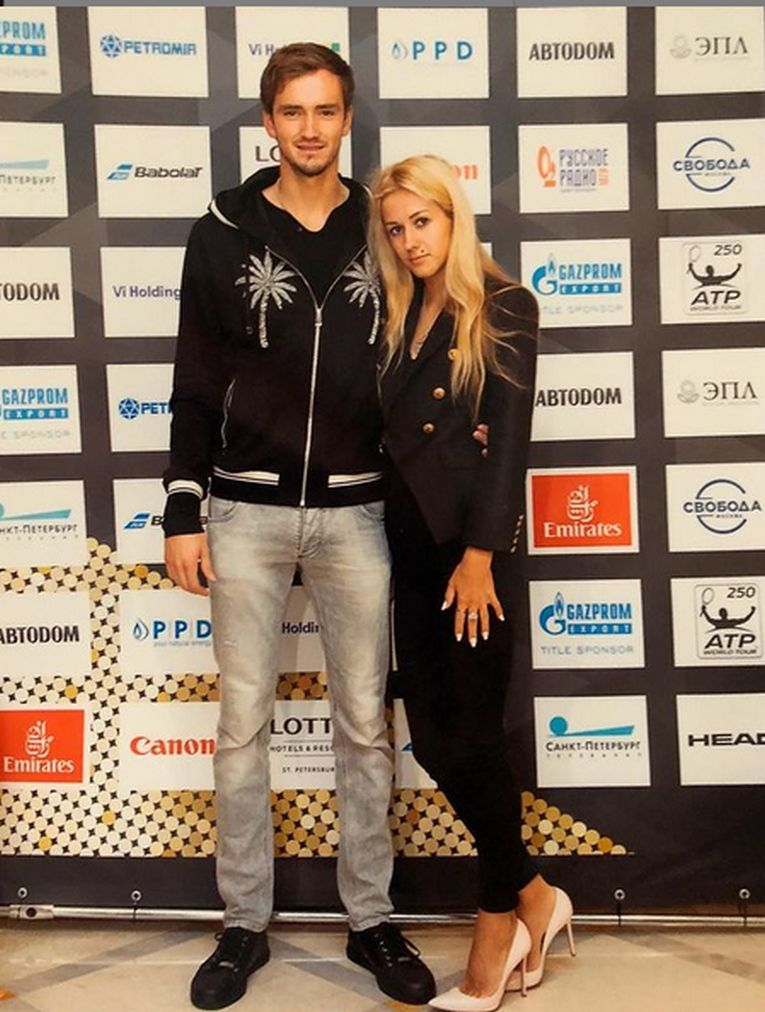 Daniil Medvedev, cu soția lui, Daria