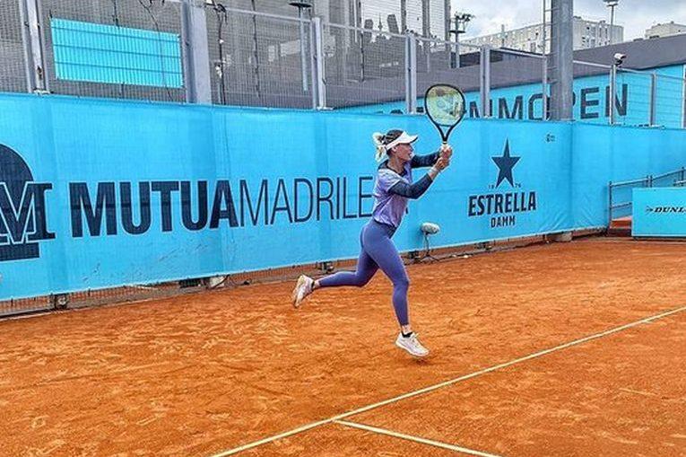 Ana Bogdan la antrenament la Madrid