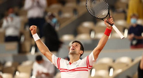 Novak Djokovic, după victoria în fața lui Rafael Nadal la Roland Garros