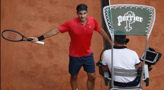 Roger Federer a discutat în contradictoriu cu arbitrul