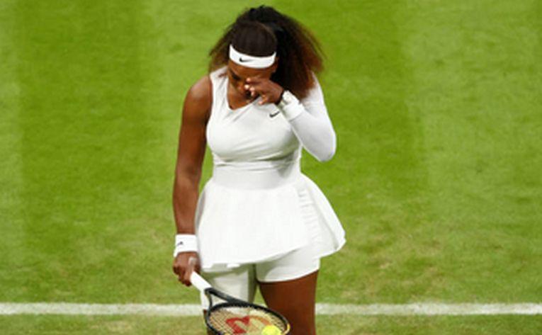 Serena Williams a plâns în ultimul game înainte de retragere