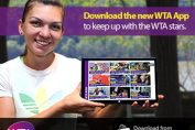 Simona Halep prezinta noua aplicatie WTA