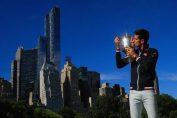 djokovic trofeu usopen central park