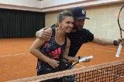 simona halep si smiley antrenament
