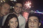 simona halep focuri artificii brisbane