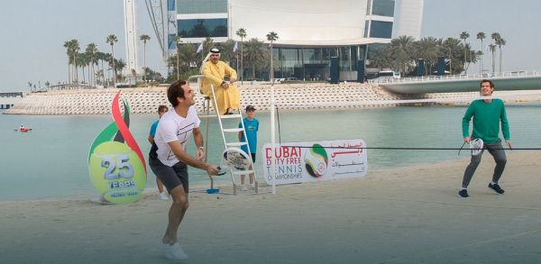 federer murray tenis plaja dubai
