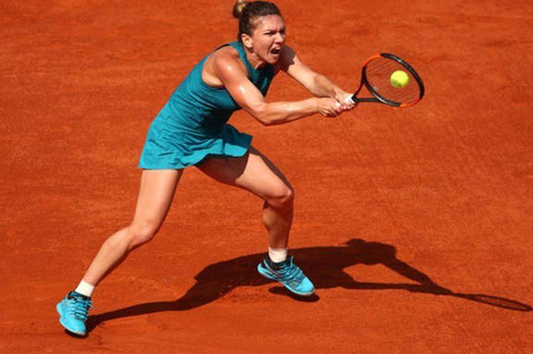 Simona Halep, în actiune la Roland Garros 2018