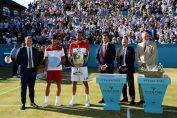 Novak Djokovic, alaturi de Marin Cilic, dupa finala de la Queen's