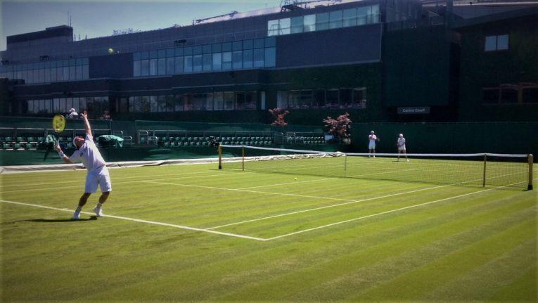 Simona Halep si Lleyton Hewitt s-au antrenat impreuna la Wimbledon