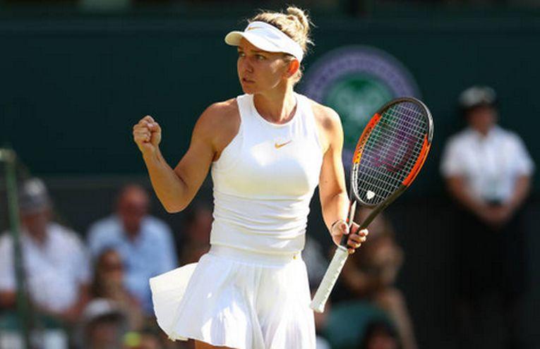 Simona Halep, bucuroasa dupa calificarea in turul 2 la Wimbledon 2018