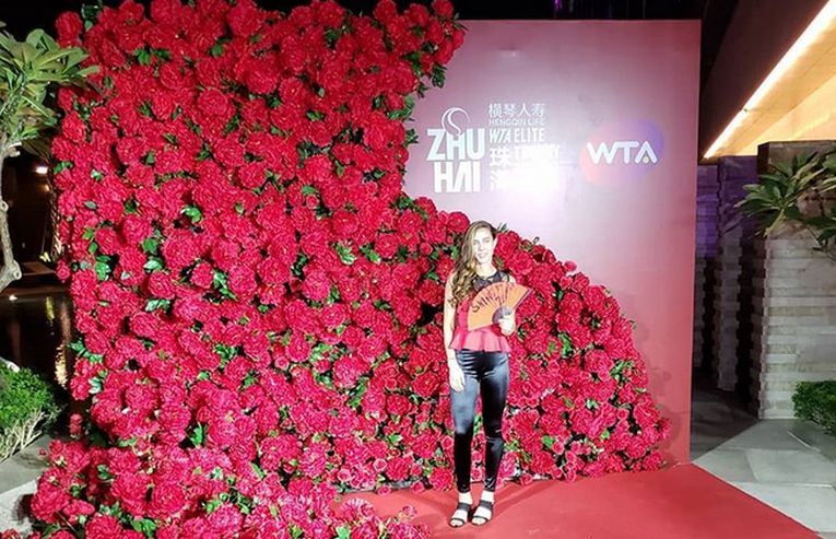 Mihaela Buzarnescu, la petrecerea jucatoarelor dela Zhuhai