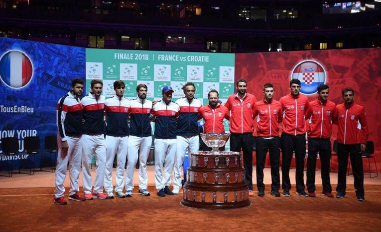 Echipele Franței și Croației încep lupta pentru trofeul Cupei Davis