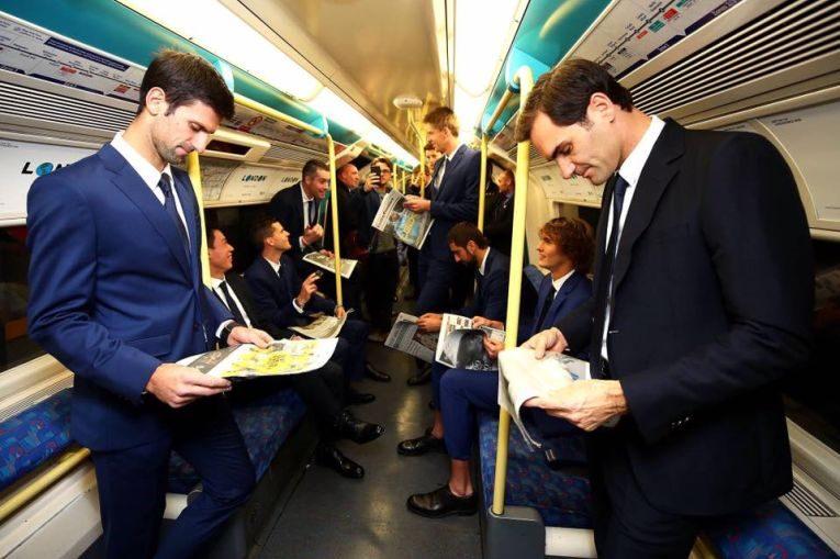 La Turneul Campionilor 2018, Roger Federer, Novak Djokovic si ceilalti jucatori au fost plimbati cu metroul