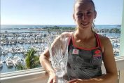 Elise Mertens trofeu turneu tenis demonstrativ hawaii 2018
