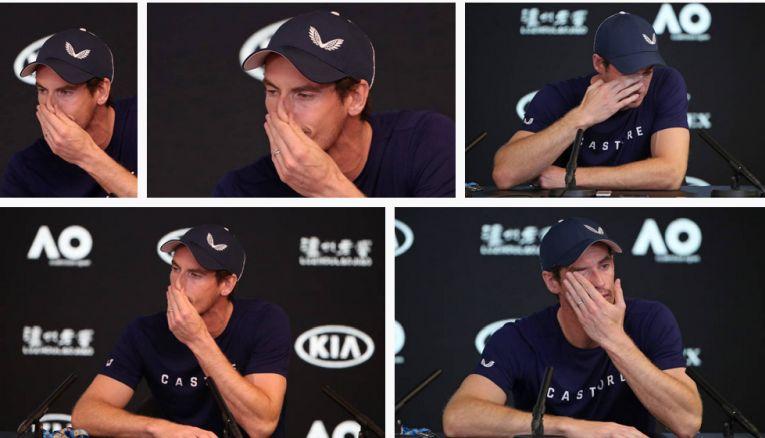 Andy Murray a plâns la conferința de presă de la Australian Open