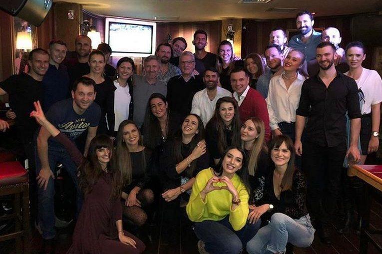 Horia Tecau si Simona Halep, la petrecerea supriza pentru Tecau