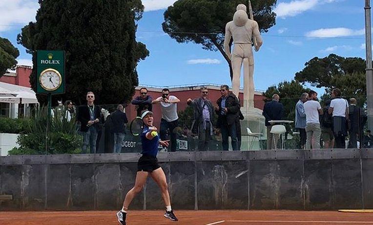 Simona Halep, la antrenament la Roma