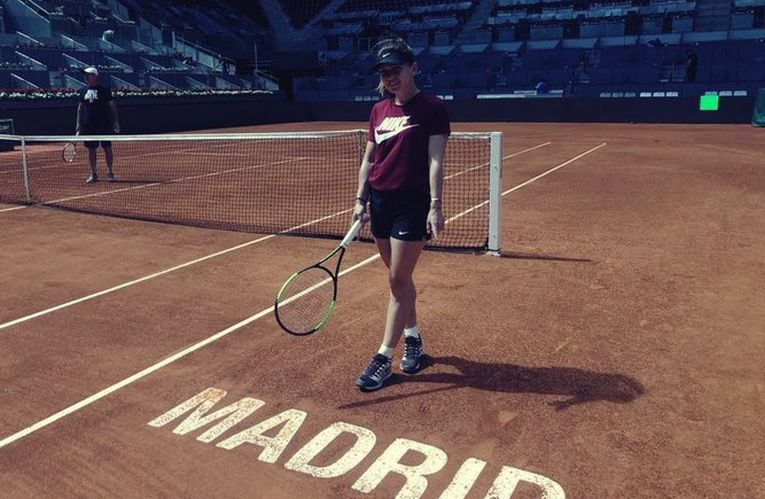 Simona Halep la Madrid 2019