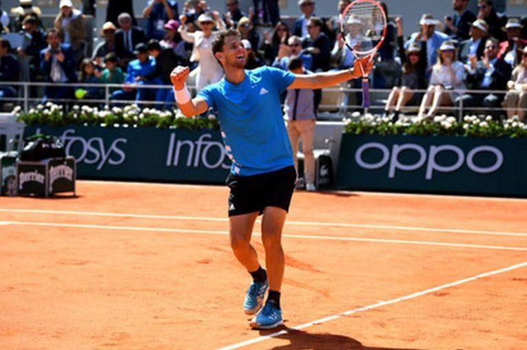 Dominic Thiem, după calificarea în finala de la Roland Garros 2019