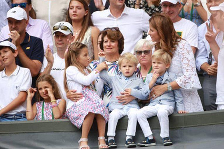Cei patru copii la lui Roger Federer la Wimbledon 2017