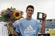 Novak Djokovic, la 23 iulie 2006, după cucerirea primului titlu ATP din carieră, la Amersfoort